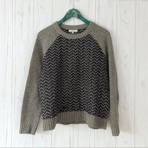 Madewell Reverse Herringbone Sweater Merino Wool